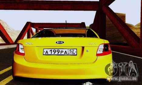 Kia Rio II 2009 pour GTA San Andreas vue intérieure