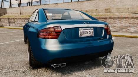 GTA V Tailgater (Michael Car) für GTA 4 hinten links Ansicht