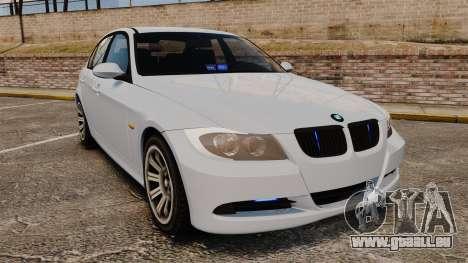 BMW 330i Unmarked Police [ELS] für GTA 4