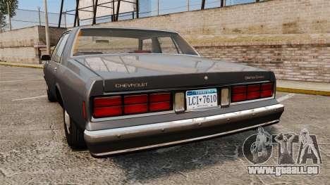 Chevrolet Caprice 1989 v2.0 pour GTA 4 Vue arrière de la gauche