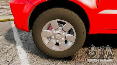 Toyota Hilux French Red Cross [ELS] pour GTA 4 Vue arrière