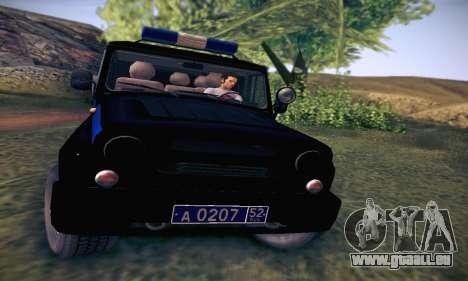 UAZ Hunter-Polizei für GTA San Andreas Innenansicht