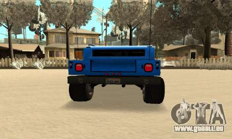 HUMMER H1 für GTA San Andreas zurück linke Ansicht