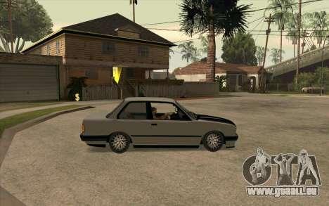 BMW E30 Stance pour GTA San Andreas vue de droite