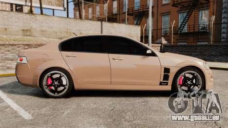 Holden HSV W427 2009 pour GTA 4 est une gauche
