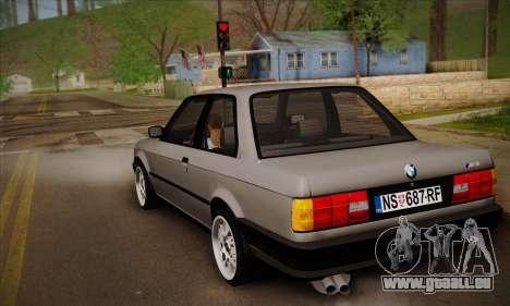 BMW M3 E30 pour GTA San Andreas vue de droite