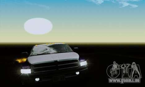 Dodge Ram 3500 pour GTA San Andreas vue de côté