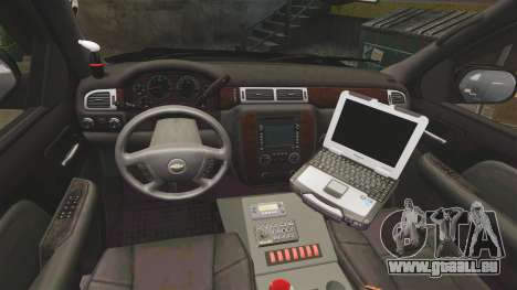 Chevrolet Tahoe 2008 Federal Signal Valor [ELS] für GTA 4 Rückansicht