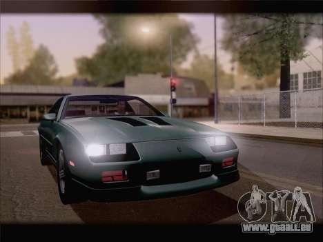 Chevrolet Camaro IROC-Z 1990 für GTA San Andreas obere Ansicht