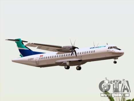 ATR 72-500 WestJet Airlines pour GTA San Andreas vue de dessus