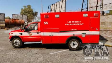 Ford E-350 LAFD Ambulance [ELS] pour GTA 4 est une gauche