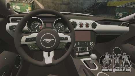 Ford Mustang GT 2015 Cheng Guan Police pour GTA 4 est une vue de l'intérieur