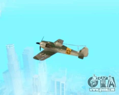 Focke-Wulf FW-190 F-8 pour GTA San Andreas vue de côté