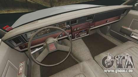 Chevrolet Caprice 1989 v2.0 pour GTA 4 Vue arrière