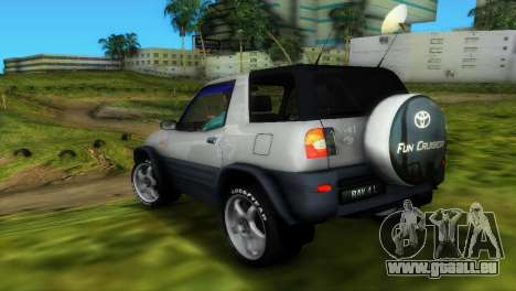 Toyota RAV 4 L 94 Fun Cruiser für GTA Vice City obere Ansicht
