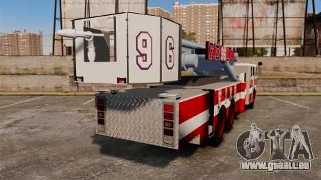 MTL Firetruck Tower Ladder FDLC [ELS-EPM] für GTA 4 hinten links Ansicht
