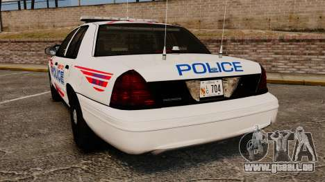 Ford Crown Victoria 2008 LCPD Patrol [ELS] für GTA 4 hinten links Ansicht