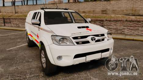 Toyota Hilux French Red Cross [ELS] pour GTA 4
