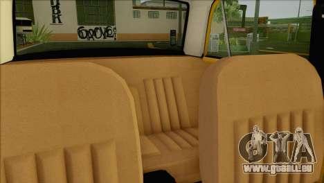 Taxi VAZ 21011 pour GTA San Andreas vue de dessus