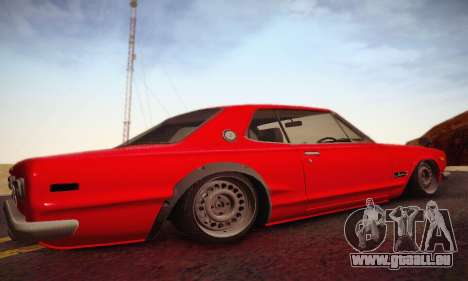 Nissan Skyline 2000GTR 1967 Hellaflush für GTA San Andreas Rückansicht
