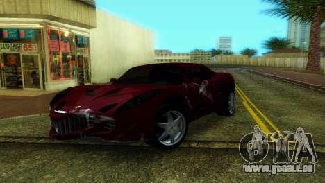 Lotus Elise pour GTA Vice City vue arrière