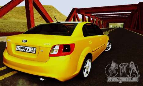 Kia Rio II 2009 für GTA San Andreas Seitenansicht