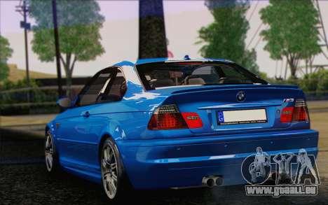 BMW M3 E46 2005 für GTA San Andreas zurück linke Ansicht