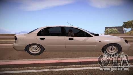 Daewoo Lanos pour GTA San Andreas laissé vue