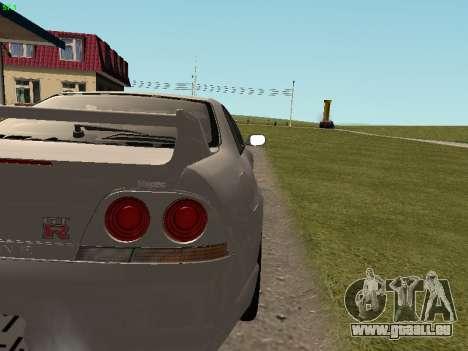 Nissan Skyline R33 GT-R für GTA San Andreas Innenansicht