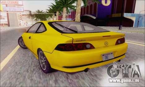 Acura RSX pour GTA San Andreas vue arrière