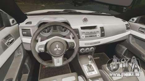Mitsubishi Lancer Evo X Humberside Police [ELS] für GTA 4 Innenansicht