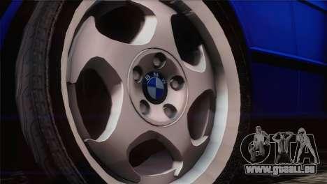 BMW 535i E34 Mafia Style pour GTA San Andreas vue de droite