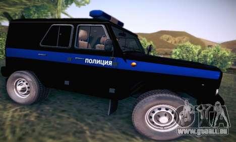 UAZ Hunter-Polizei für GTA San Andreas Rückansicht