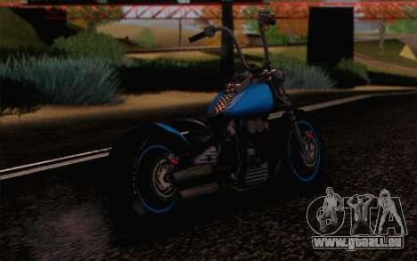 Harley-Davidson Knucklehead pour GTA San Andreas laissé vue