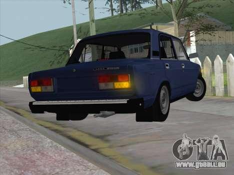 ВАЗ 21074 pour GTA San Andreas sur la vue arrière gauche