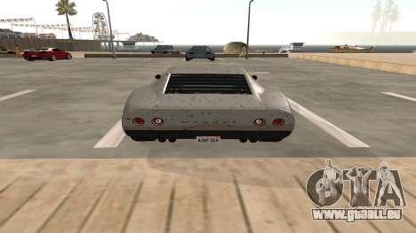 Monroe von GTA 5 für GTA San Andreas Rückansicht