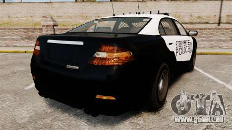 GTA V Vapid Steelport Police Interceptor [ELS] für GTA 4 hinten links Ansicht