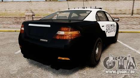 GTA V Vapid Steelport Police Interceptor [ELS] für GTA 4 hinten links Ansicht