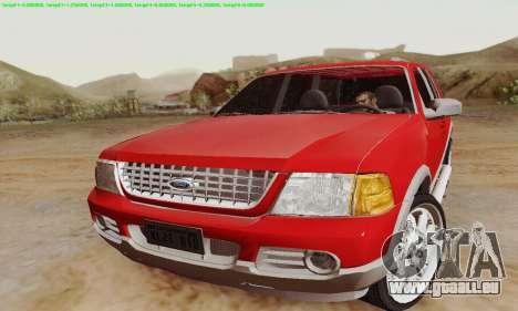 Ford Explorer 2002 pour GTA San Andreas laissé vue