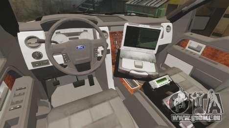 Ford F-150 2012 CEPS [ELS] pour GTA 4 est une vue de l'intérieur