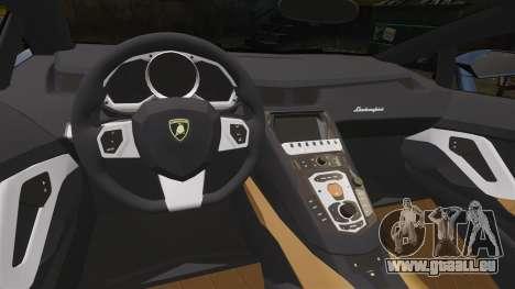 Lamborghini Aventador LP720-4 50th Anniversario für GTA 4 Innenansicht