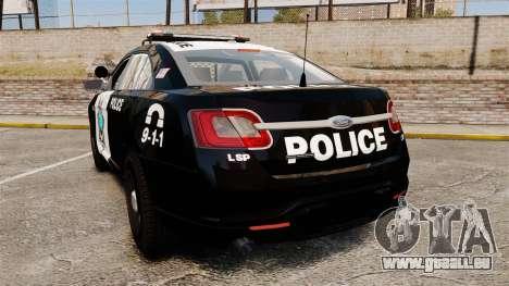 Ford Taurus Liberty State Police für GTA 4 hinten links Ansicht