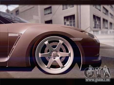 Nissan GT-R Spec V Stance pour GTA San Andreas vue intérieure