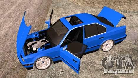 BMW 535i E34 Mafia Style für GTA San Andreas Innenansicht