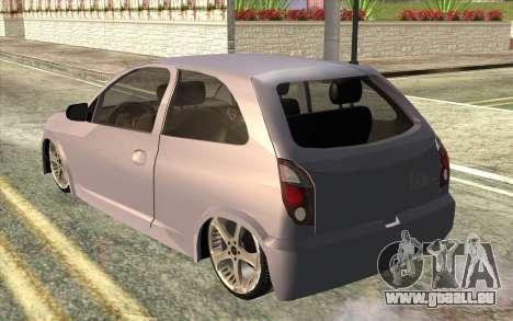Chevrolet Celta 2010 pour GTA San Andreas laissé vue