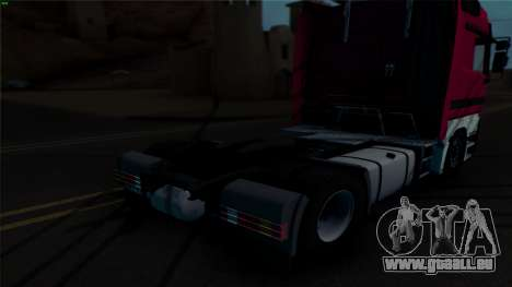 Mercedes-Benz 1840 pour GTA San Andreas vue intérieure