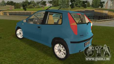 Fiat Punto II pour GTA Vice City sur la vue arrière gauche