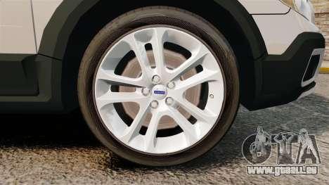 Volvo XC70 Police [ELS] für GTA 4 Rückansicht