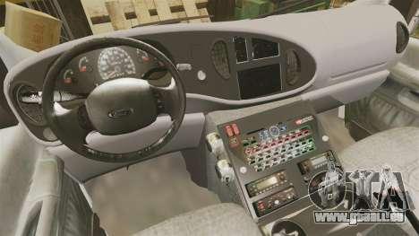 Ford E-350 Liberty Ambulance [ELS] für GTA 4 Rückansicht