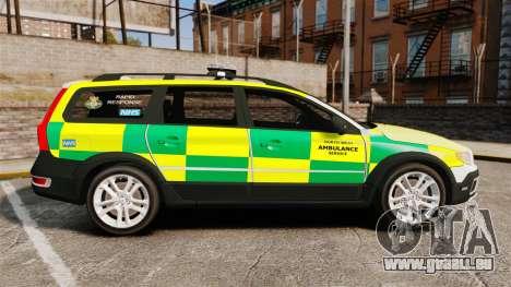 Volvo XC70 Paramedic [ELS] für GTA 4 linke Ansicht